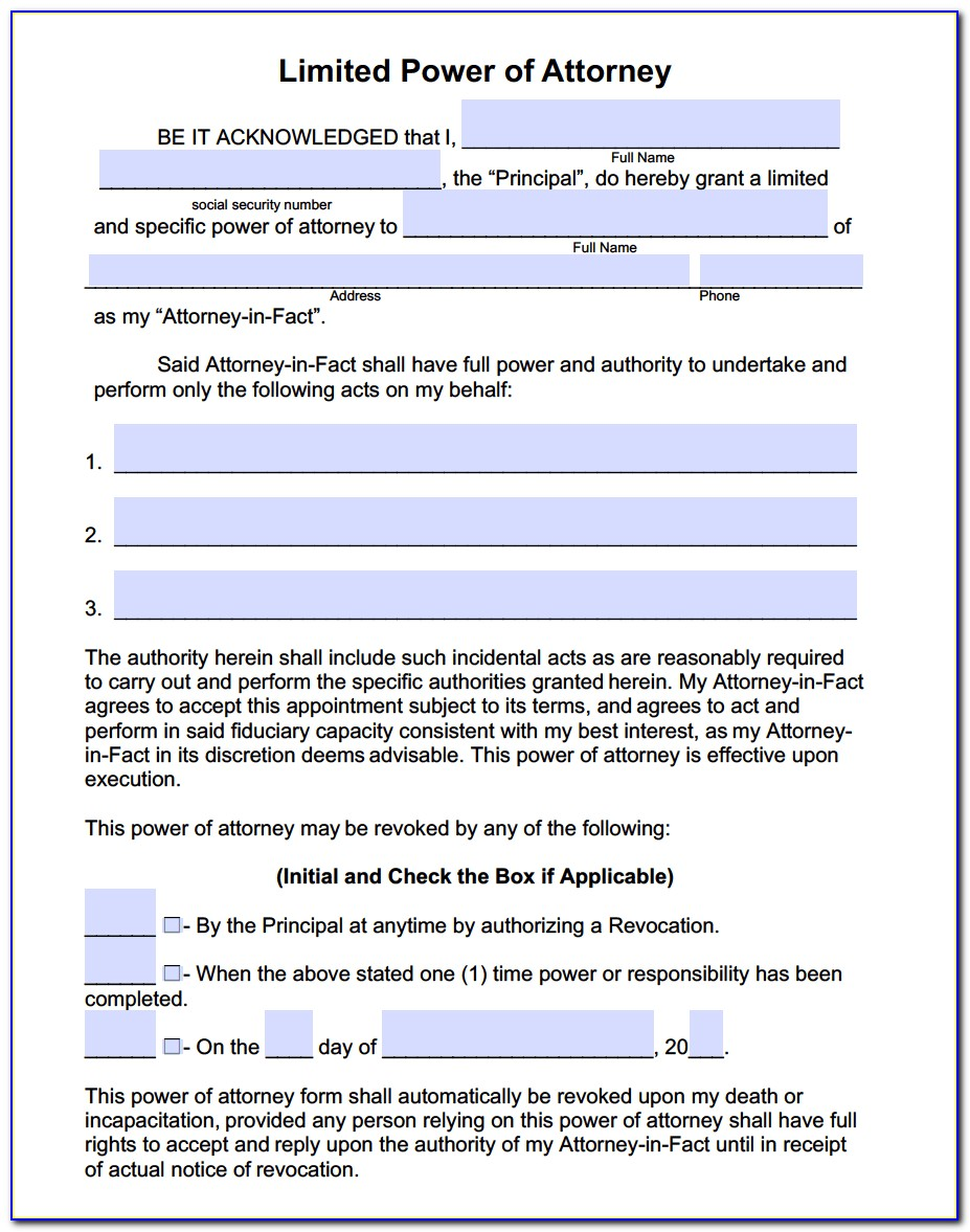 Florida Dept Of Motor Vehicles Power Of Attorney Form