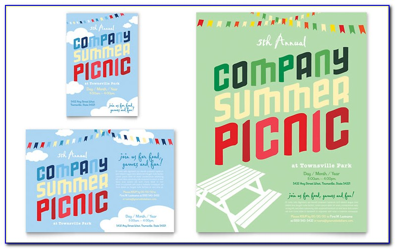 Free Company Picnic Flyer Word Template
