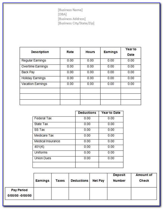 Free Online Payroll Check Template
