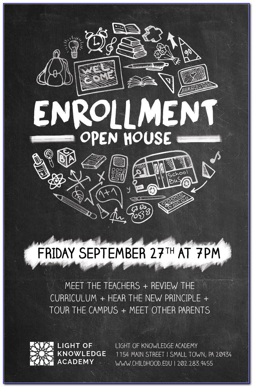 Free Open Enrollment Flyer Template