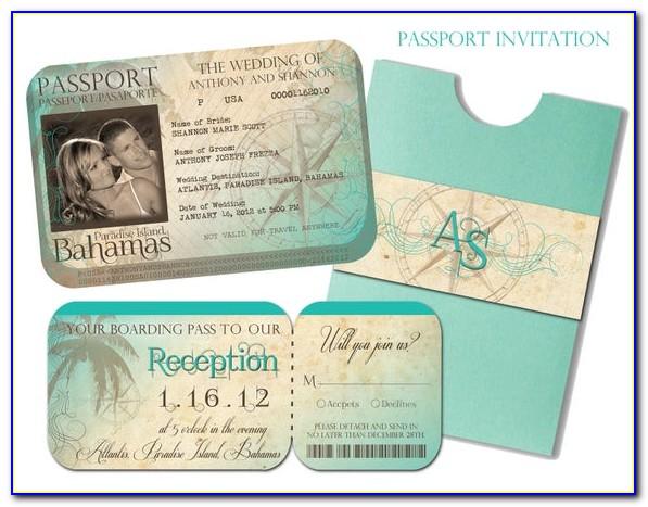 Free Passport Style Wedding Invitations Template