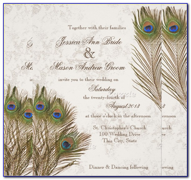 Free Peacock Birthday Invitation Template