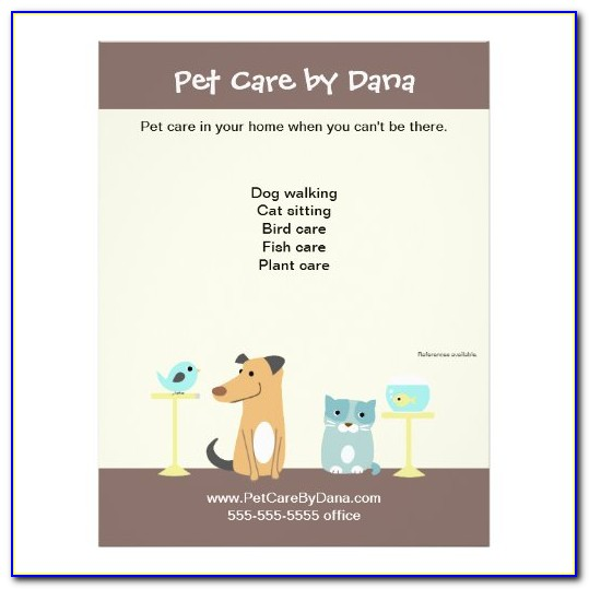 Free Pet Sitting Forms Templates