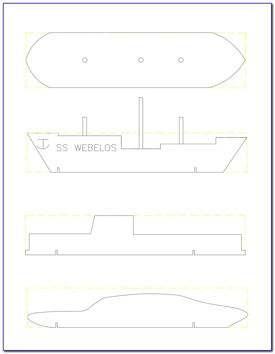 Free Pinewood Derby Car Templates Shark