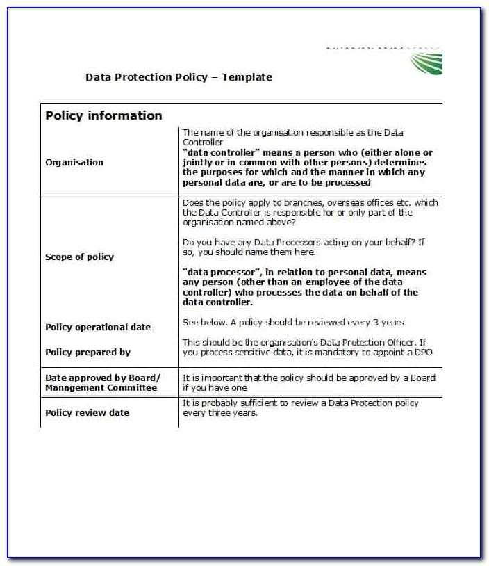 Free Policies And Procedures Template For Small Business