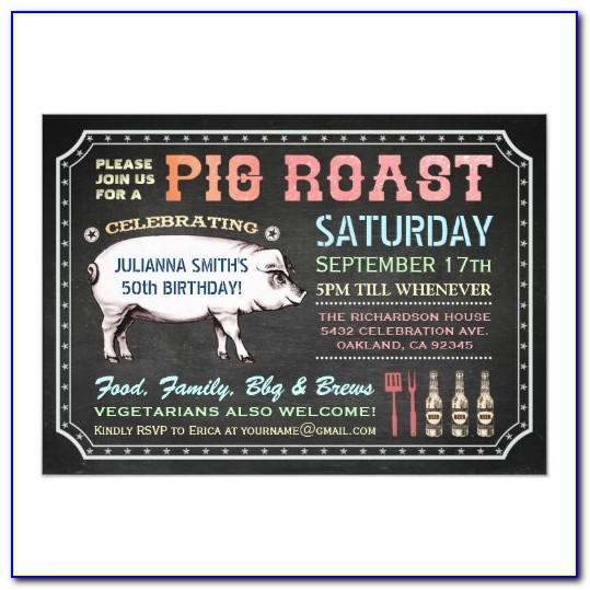 Free Printable Pig Roast Invitation Template