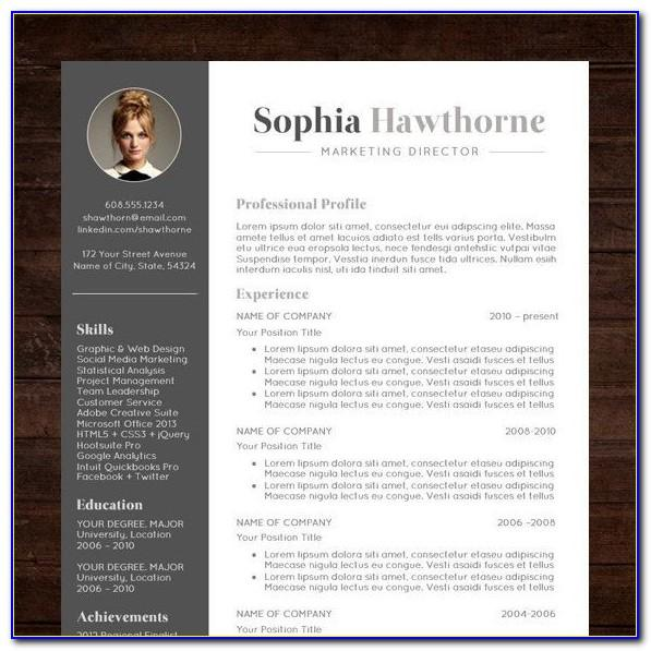 Free Resume Templates For Pages Ipad