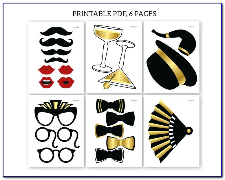 Graduation Photo Booth Props Printable Pdf