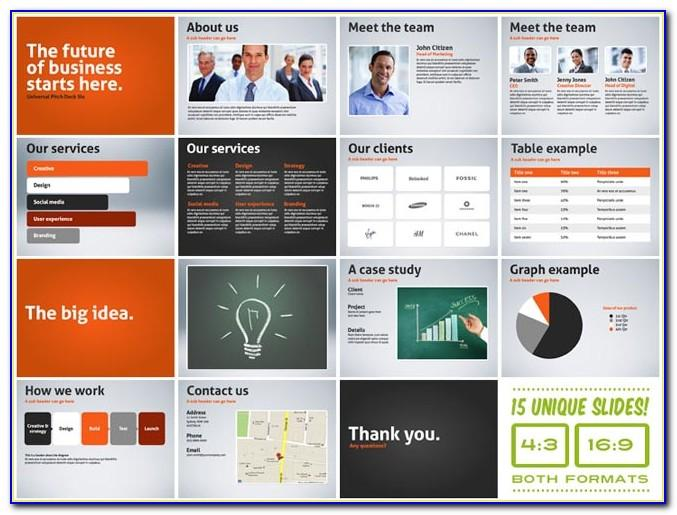 Horizon Business Pitch Deck Powerpoint Template Free Download