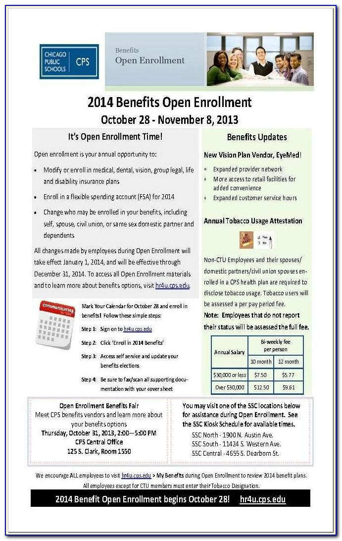 Insurance Open Enrollment Flyer Template