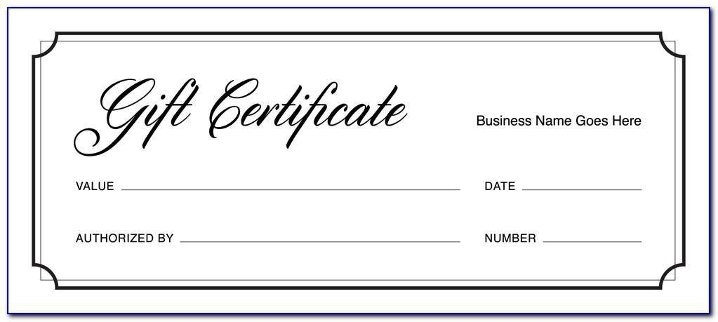 Interior Design Gift Certificate Template