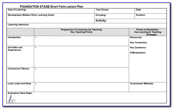 Ks2 Pe Lesson Plan Template