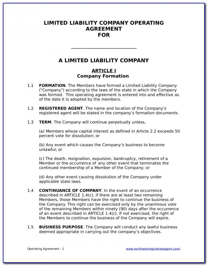 Llc Operating Agreement Amendment Form
