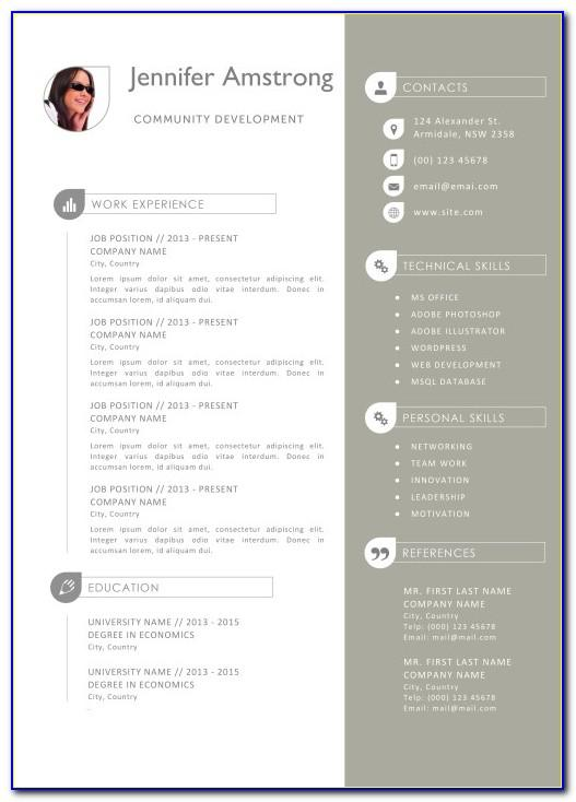 Mac Pages Resume Template Free