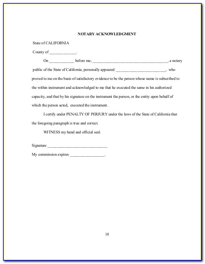 Medical Power Of Attorney Form California 2018
