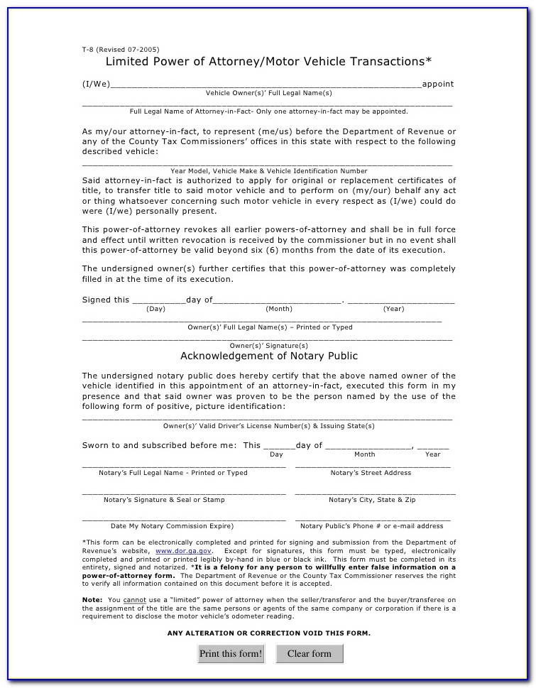 Medical Power Of Attorney Form Florida Pdf