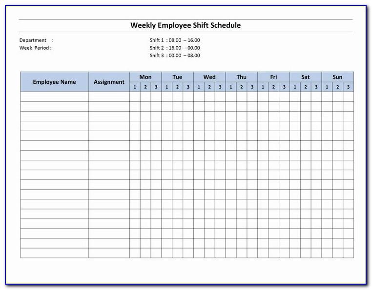 Nursing Home Staffing Schedule Template