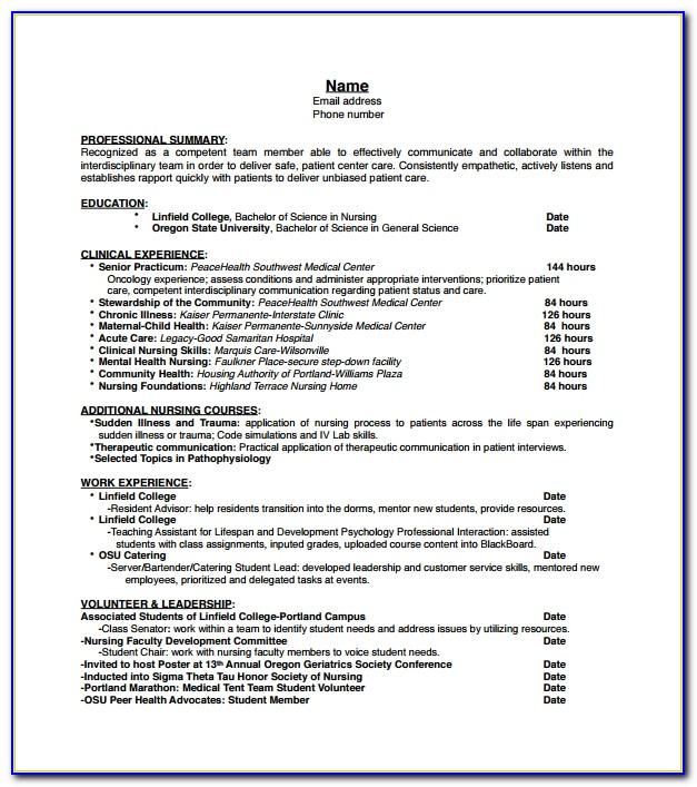 Nursing Resume Example Australia