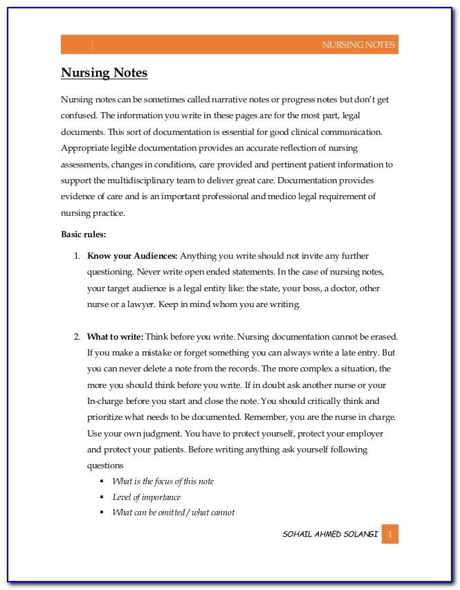 Nursing Resume Examples Free