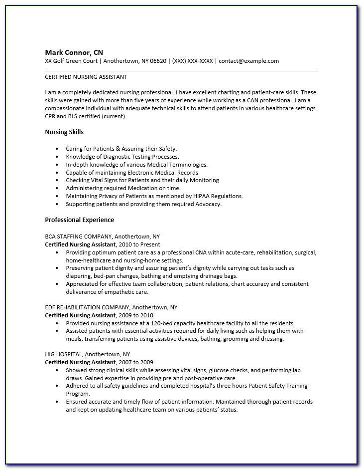 Nursing Resume Templates 2015