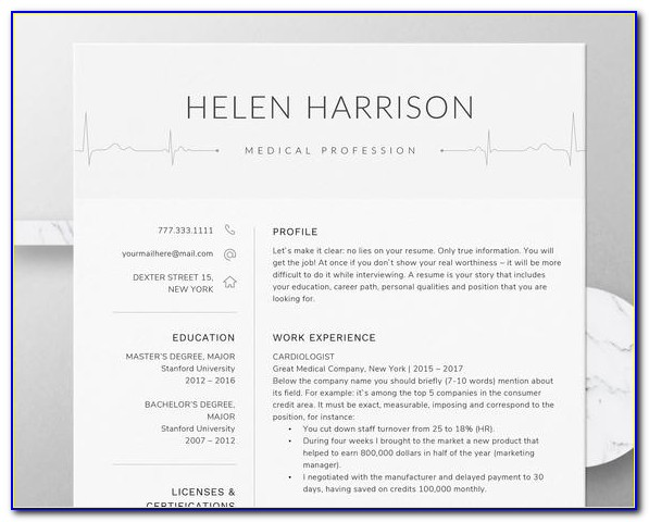 Nursing Student Resume Template Word