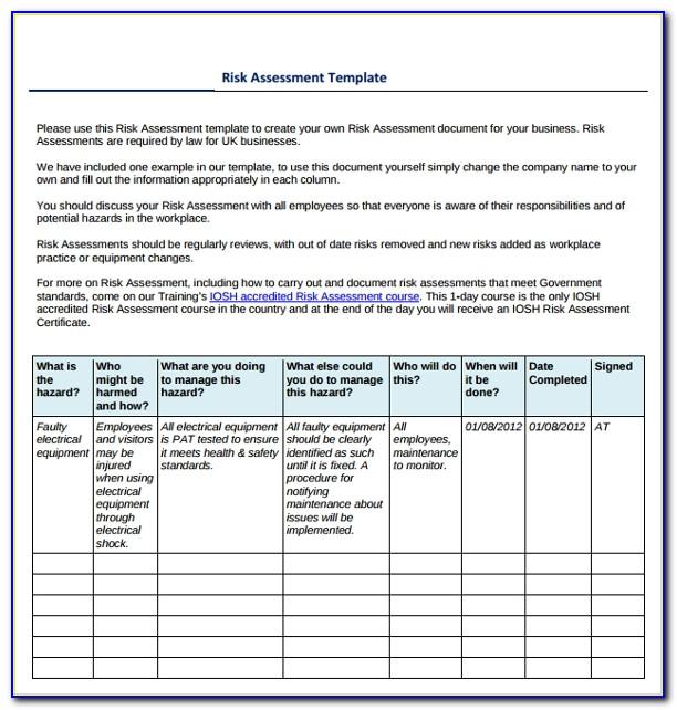 Ofac Risk Assessment Examples