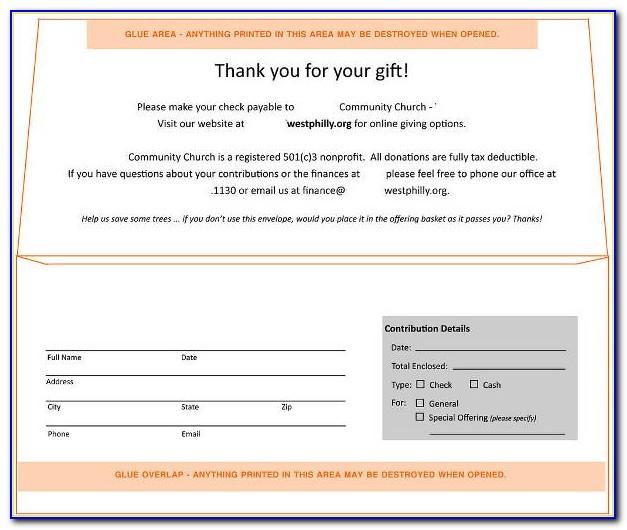 Offering Envelope Template Download