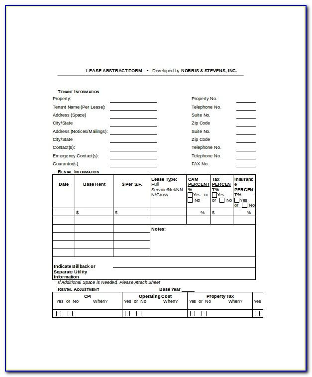 Office Lease Abstract Template