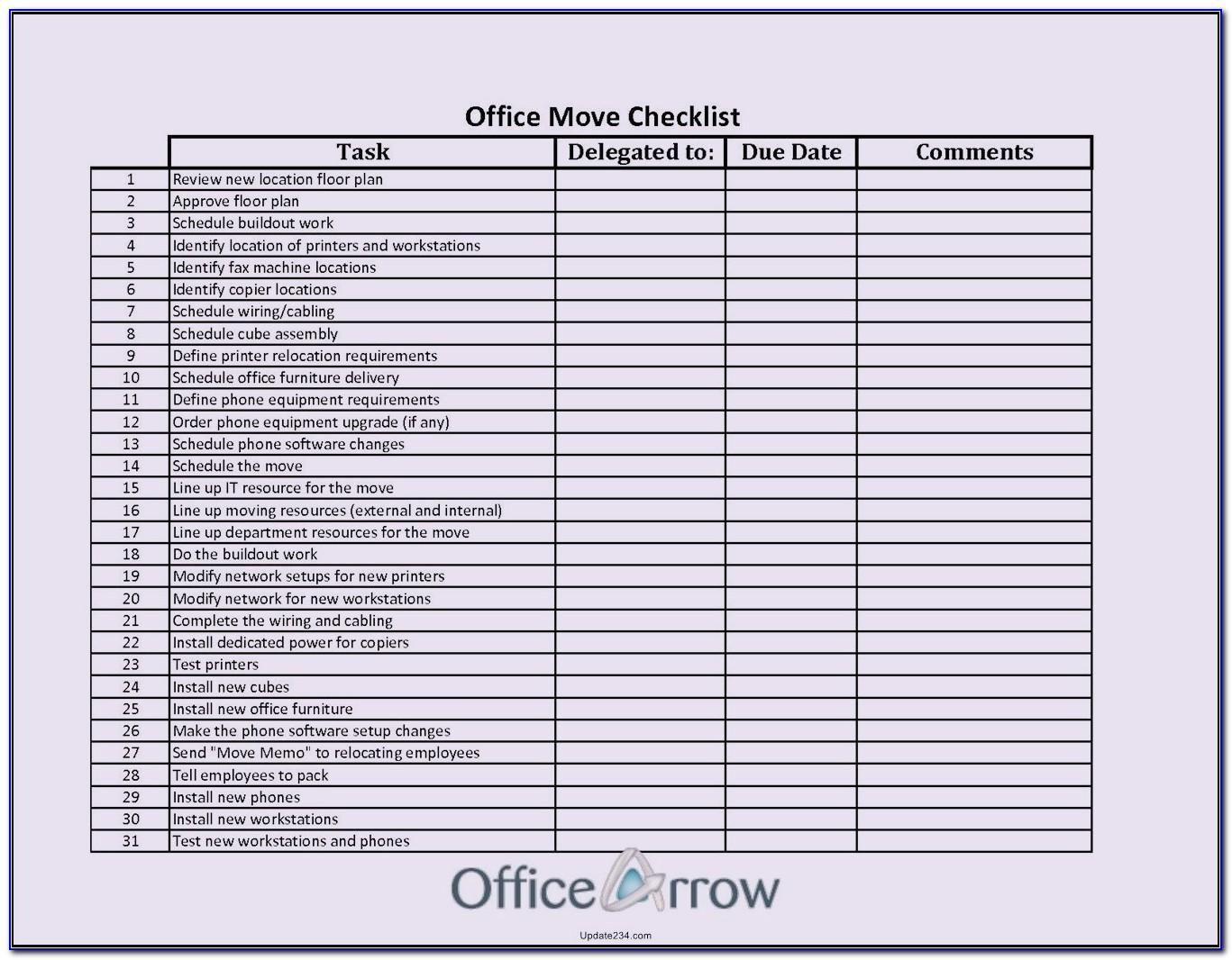 Office Move Planning Template