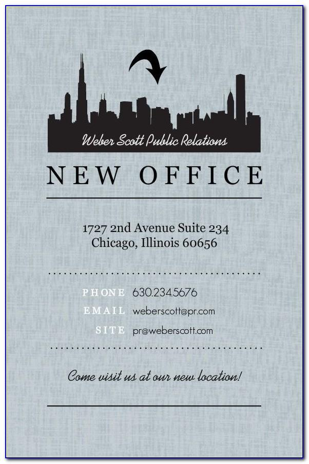 Office Moving Announcements Templates