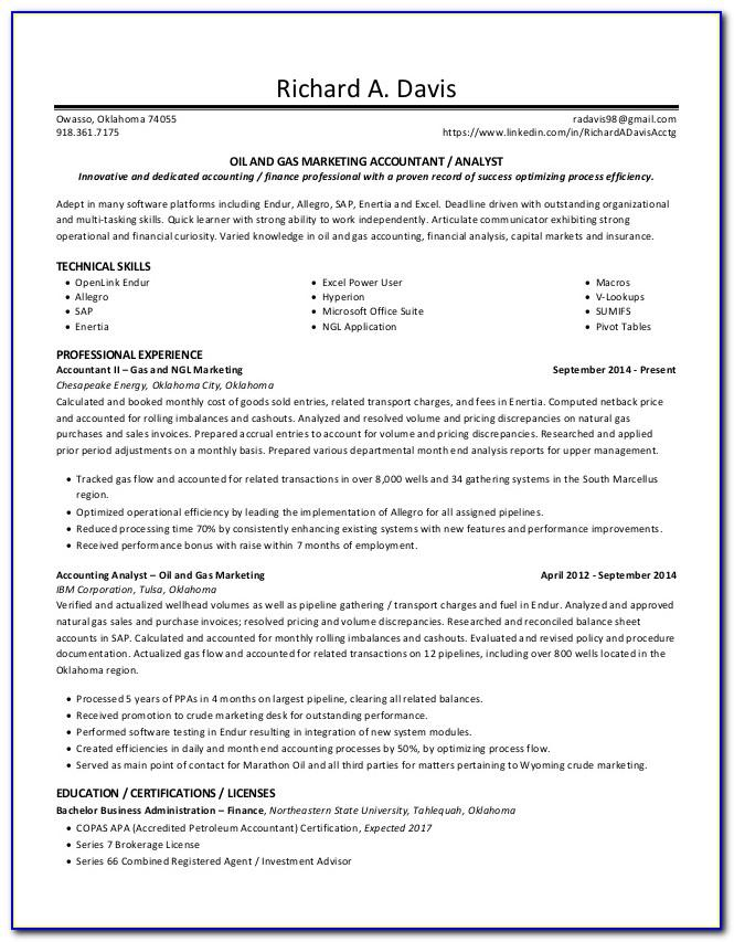 Oil And Gas Electrical Engineer Resume Sample