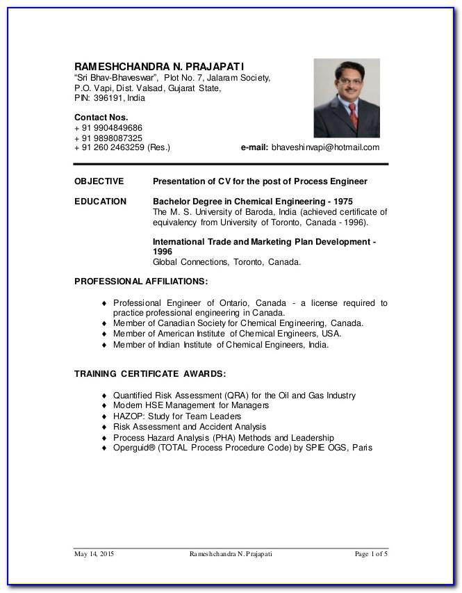Oil And Gas Engineer Resume Sample