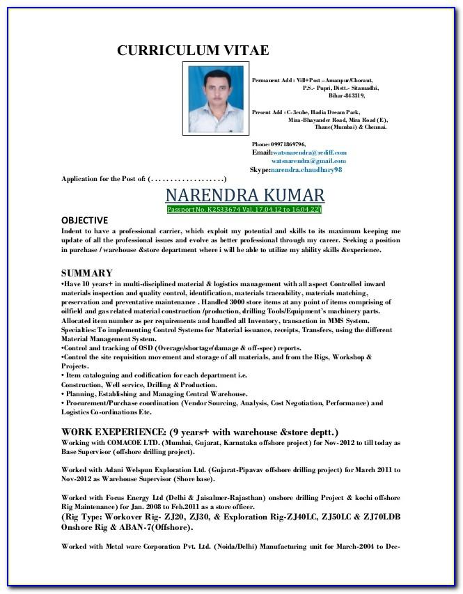 Oil And Gas Engineer Resume Template