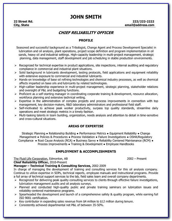 Oil And Gas Field Electrical Engineer Resume Sample Pdf