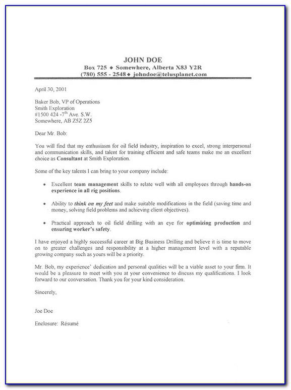 Oil And Gas Industry Resume Template