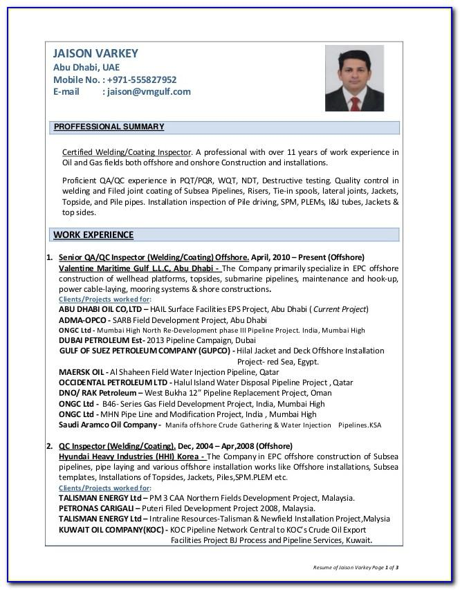 Oil And Gas Resume Sample Malaysia