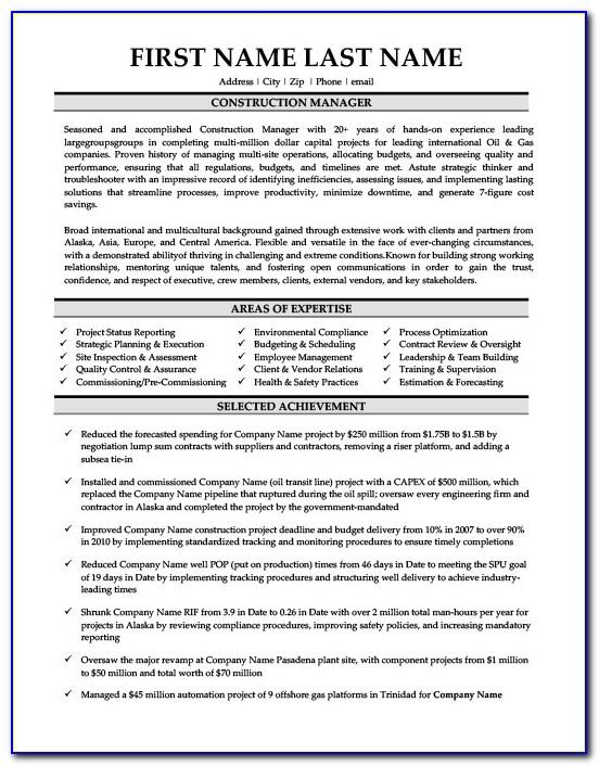 Oil And Gas Sales Resume Sample