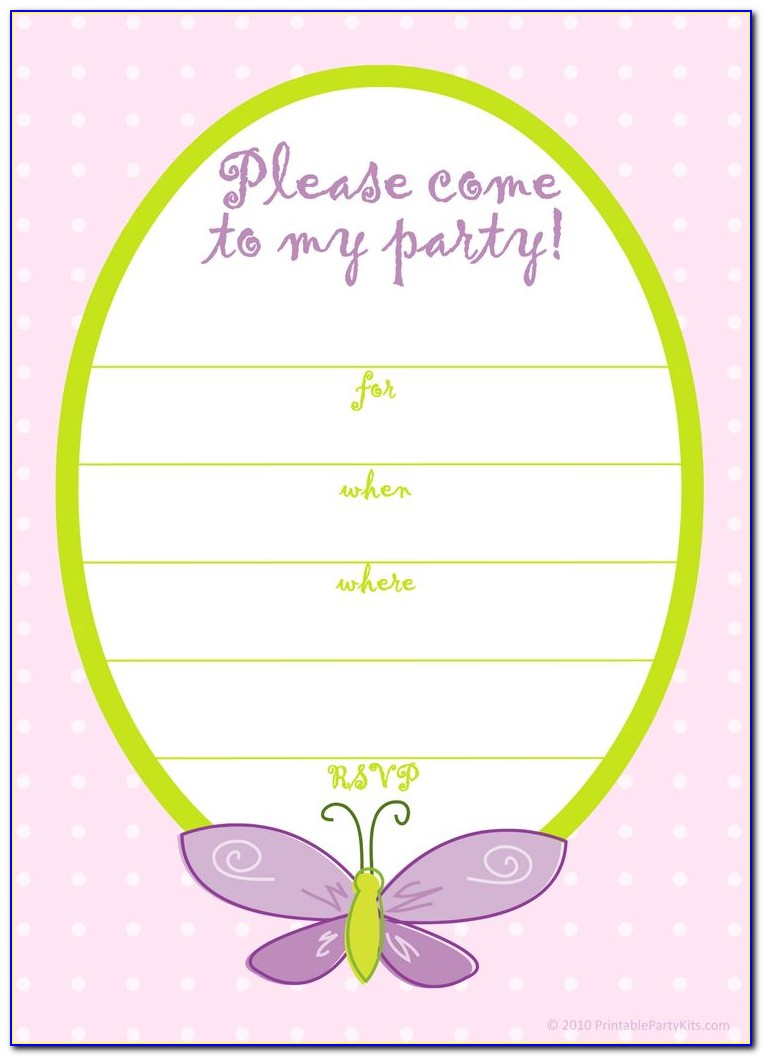 Online Birthday Invitation Cards Templates