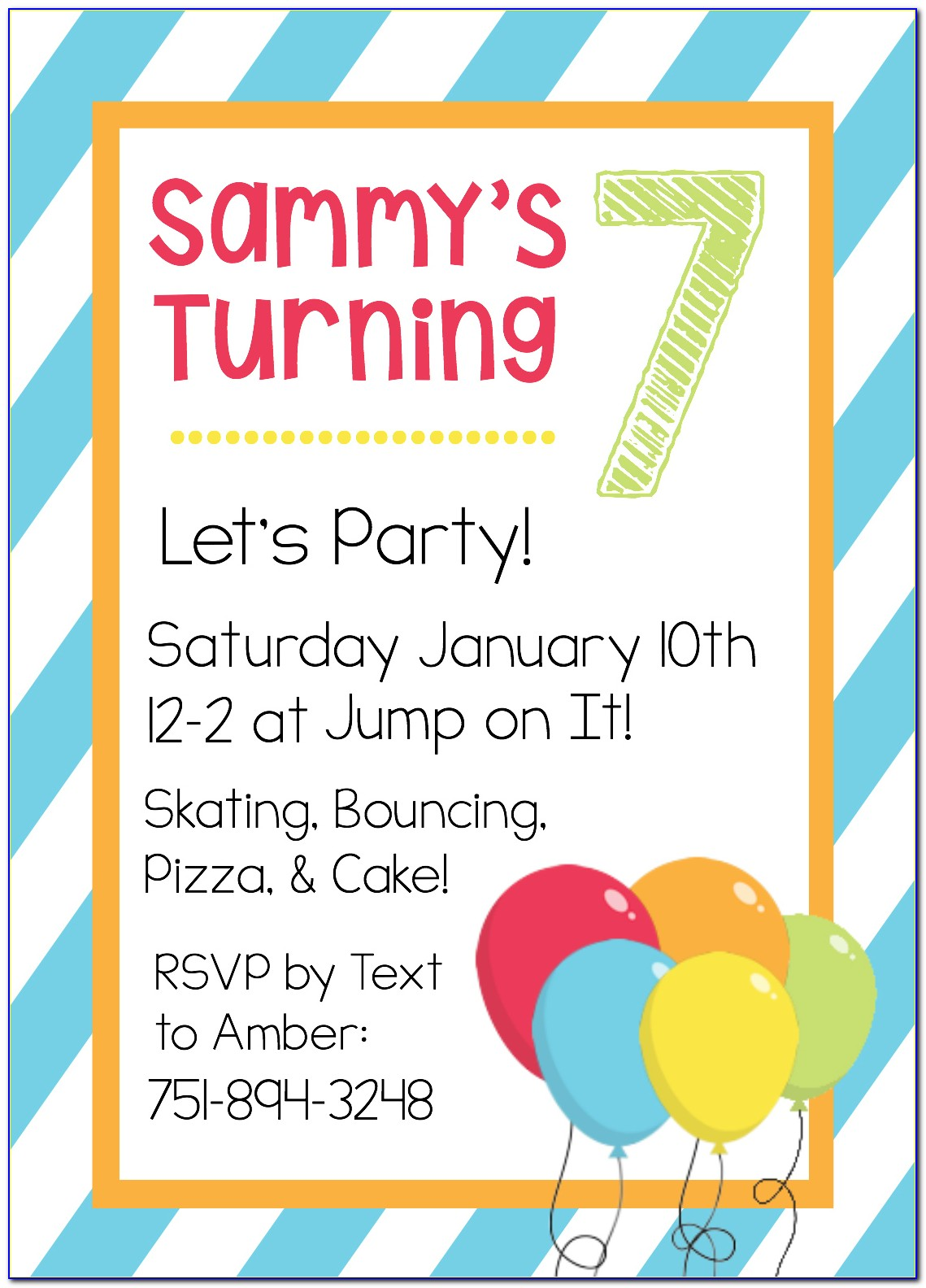 Online Birthday Invitation Template Free