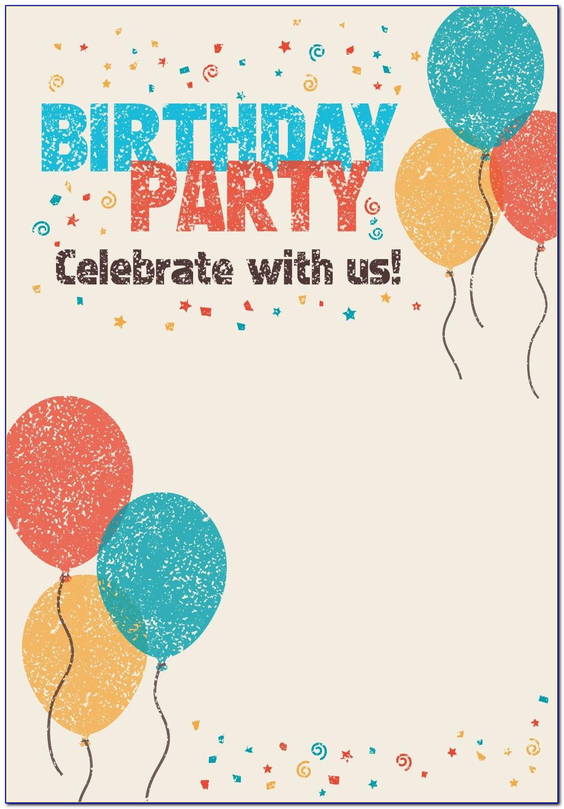 Online Birthday Invitation Template Girl