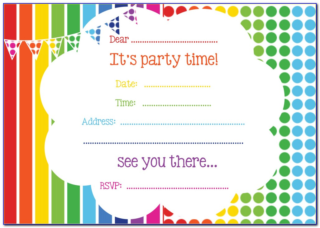 Online Birthday Invitations Templates Free