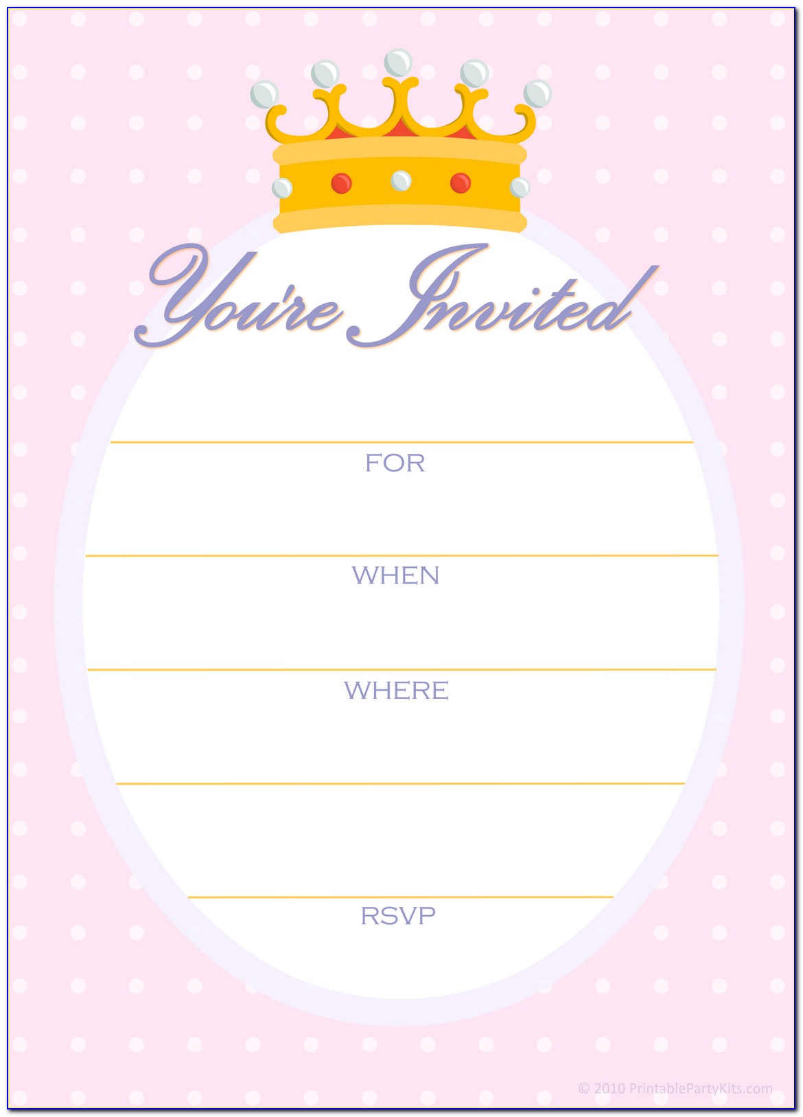Online Birthday Party Invitation Template