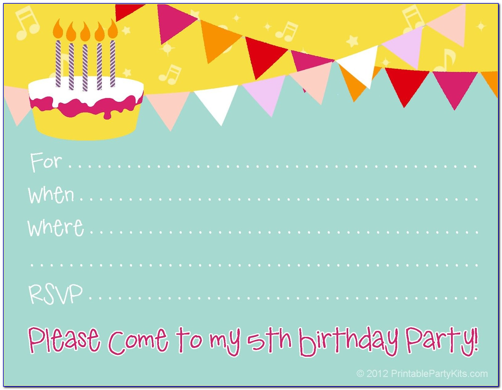 Online Birthday Party Invitations Templates Free