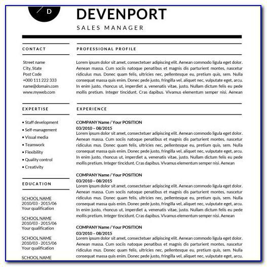 Online Resume Template Builder