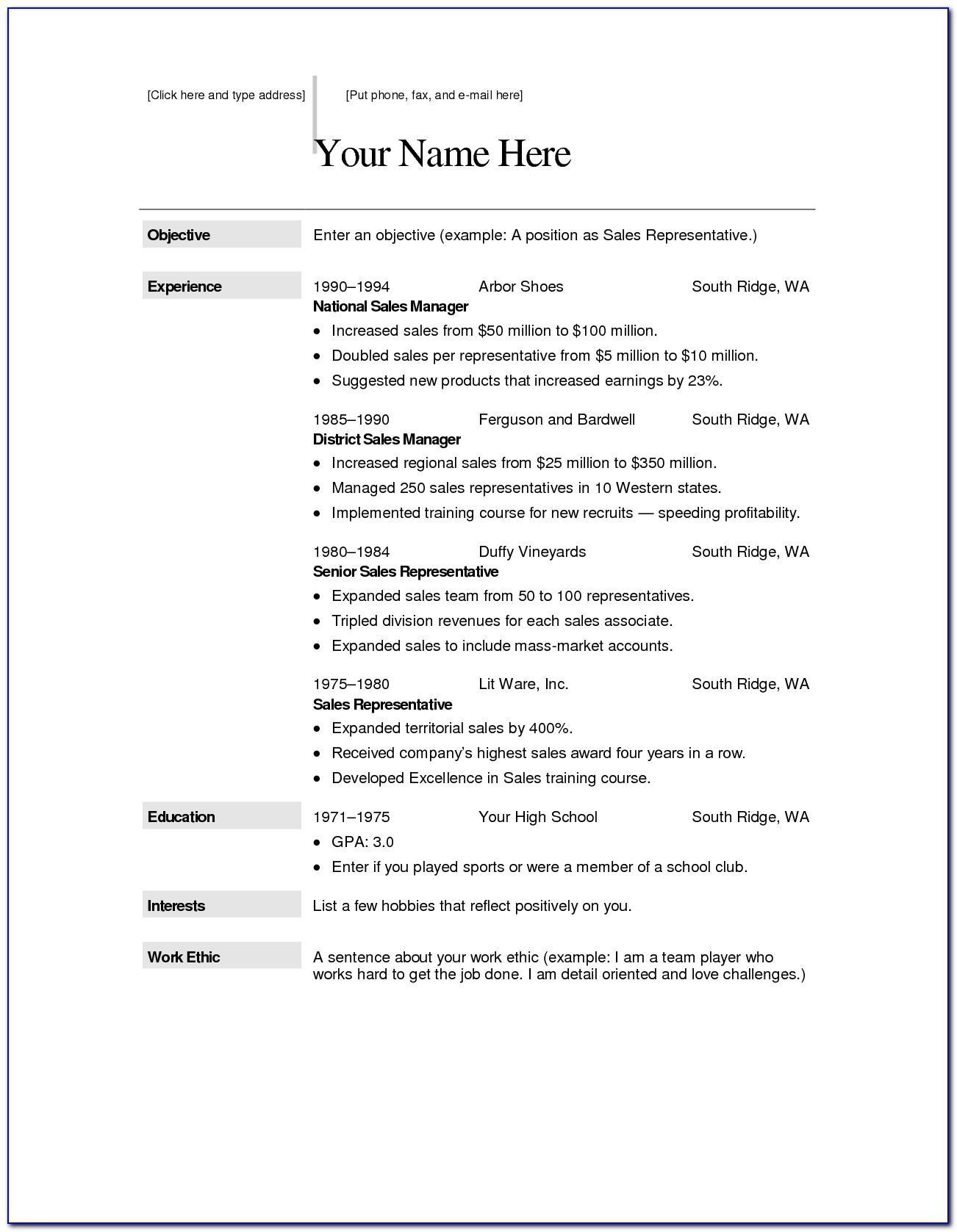 Online Resume Template Maker