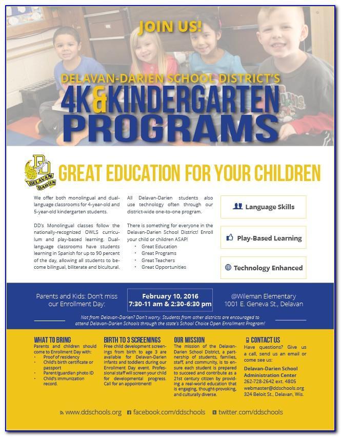 Open Enrollment Announcement Flyer Template