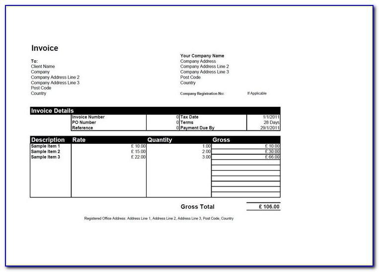 Open Office Billing Invoice Template