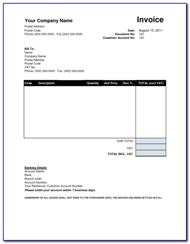 Open Office Invoice Templates Free