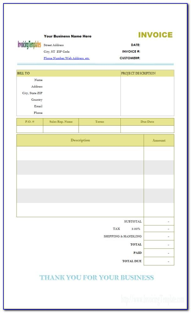 Open Office Invoice Templates