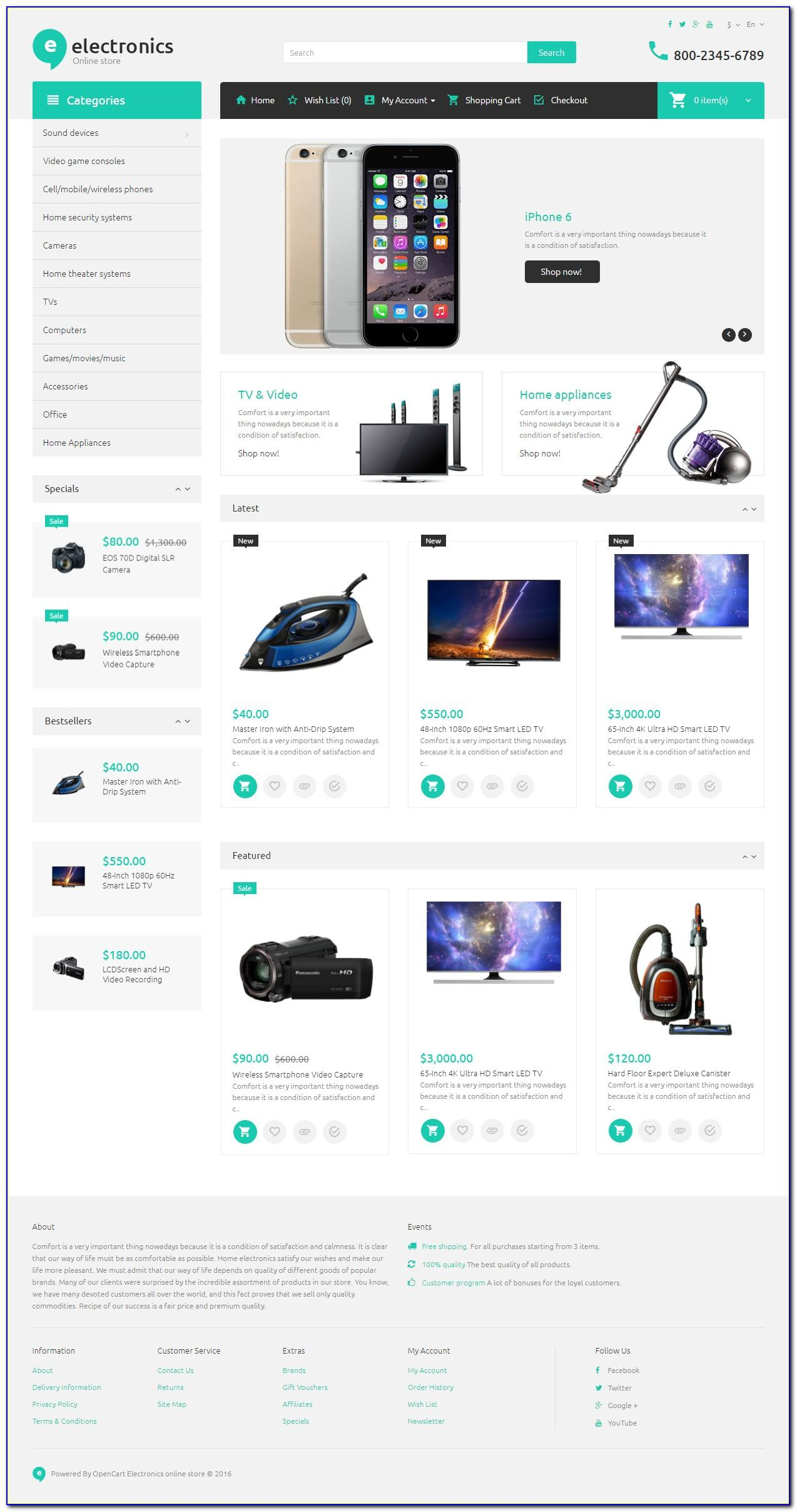 Opencart Premium Themes Nulled
